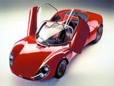 Sketchbook historic cars : 1967 Italia - Alfa Romeo Milano - 33 Stradale designer Franco Scaglione