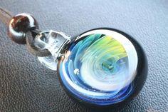 宇宙 流星ガラスペンダント spaceglass. galaxyglass. handmade. pendant. ColorWorks
