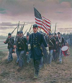 Mort Kunstler: Chamberlain and the 20th Maine; The Battle of Gettysburg July 1, 1863
