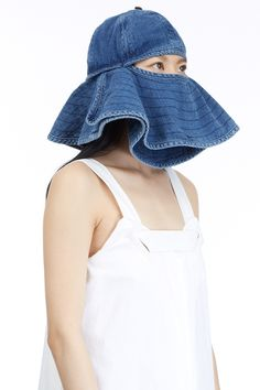 The Top 6 Reasons You NEED This Hat #refinery29  http://www.refinery29.com/ultimate-bucket-hat#slide1  1. You have often dreamed of wearing a frilly denim bucket over your head.