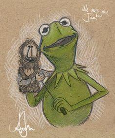Jim Henson tribute by Disney/Pixar comic book artist Amy Mebberson