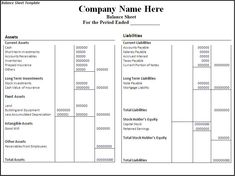 Company Financial Statements Template Sample Balance Sheet Template For Excel, Financial Statement Analysis For Beginners Investinganswers, Income Statement Template For Excel, Balance Sheet Template, Cover Sheet Template, Profit And Loss Statement, Financial Statement, Resume Template Free, Templates Printable Free, Word Templates, Money Market Account, Company Financials