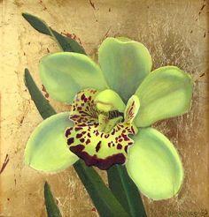 Cymbidium Orchid by  Prentice Studio Oil ~ 6 x 6