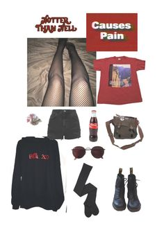 """""""Untitled #35"""" by ciassic on Polyvore featuring Dr. Martens, Topshop and Ray-Ban"""
