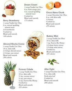 Ultra Lite shake recipes . Www.ourbodyforever.com
