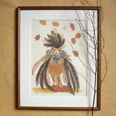 Print A4 / Autumn King by annegroen on Etsy, €24.00