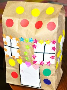 Gingerbread House (Simple Paper Bag Craft for Preschoolers or Toddlers)