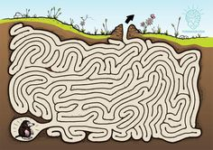 Lots of great printable mazes on this site. Some are very challanging. Animal Activities, Activities For Kids, Mazes For Kids Printable, Hidden Pictures, Interactive Learning, Family Game Night, Mole, Science And Nature, Kids Playing