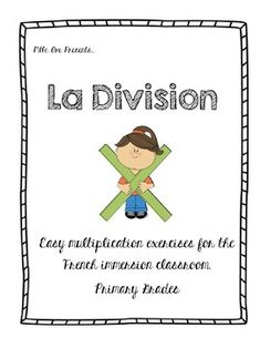Introduce the concept of Division to your students with easy exercises that will break down the concept of making groups. Perfect for the primary French Immersion Classroom. Ontario Curriculum ... Ontario Curriculum, Multiplication And Division, French Immersion, France, Teacher Newsletter, Easy Workouts, Exercises, Students, Classroom