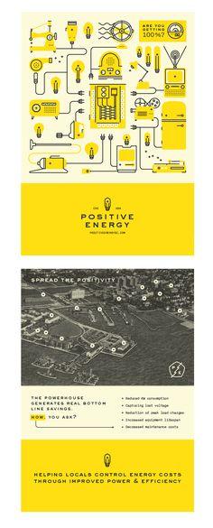 一种风格 Brochure Cover Positive Energy   Branding done by Agency Fuzzco, USA http://fuzzco.com/  Sustainability meets witty 2D flat design! Good example for my client Pindo.