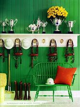 Ralph Lauren Home.  Not the tack room I grew up with.  Great color.