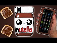Tutorial: Funda para Móvil/Tablet de Nutella Kawaii || Nutella Mobile Case DIY - YouTube