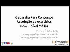 Questões de Geografia de nível médio - IBGE 2016 - Geografia Para Concursos