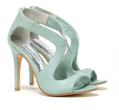 Love! mint green, color, tiffany blue, heel, blue shoes, sandal, something blue, light, baby blues