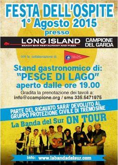 Sabato 1 agosto 2015 è il momento della Festa dell'Ospite a Campione del Garda @gardaconcierge
