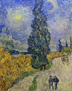 Road with Cypress and Star, May, 1890 by Vincent van Gogh on Curiator, the world's biggest collaborative art collection. Vincent Van Gogh, Van Gogh Arte, Van Gogh Pinturas, Inspiration Art, Van Gogh Paintings, Post Impressionism, Famous Art, Wassily Kandinsky, Claude Monet