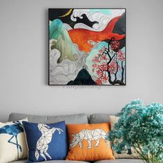 Framed wall art abstract paintings on canvas original art acrylic black and white large wall art painting wall pictures cuadros abstracto Large Painting, Acrylic Painting Canvas, Abstract Canvas, Canvas Art Prints, Canvas Wall Art, Abstract Paintings, Wall Art Pictures, Framed Wall Art, Decoration