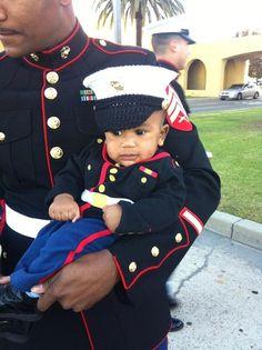 Marine baby USMC dress blues Marine Corps hat by conniemariepfost, $28.00