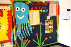 data wall, ocean theme