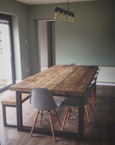 #industrial #chic #custom #furniture #tables #decor #interiors #vintage #retrocorner #sheffield #handmade #reclaimed #timber #wood #steel…