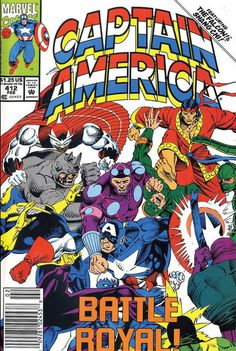 Cover for Captain America (Marvel, 1968 series) #412 [newsstand]
