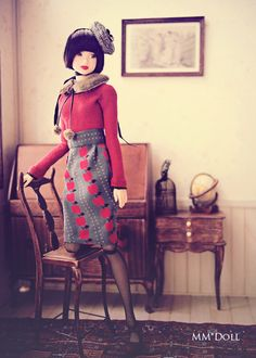 MM * Doll | What an absolutely lovely doll portrait! The details are sublime!