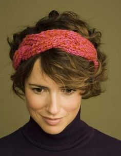 Free Knitting Pattern 60596 Braided Headband : Lion Brand Yarn Company