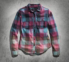 Women's Ombre Plaid Shirt | Black Label | Official Harley-Davidson Online Store
