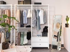 Rooms Planning Tools | IKEA Indonesia Ikea Closet Storage, Closet Storage Systems, Bedroom Storage, Bedroom Decor, Elvarli Ikea, Algot Ikea, Comment Organiser Son Dressing, Smart Closet, Pax Closet