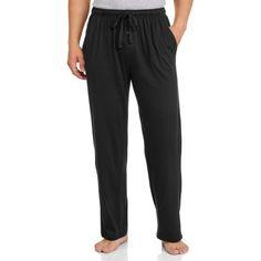 Fruit of the Loom Men's Knit Sleep Pant, Size: Medium, Black