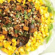 Spiced Eggplant-Lentil Salad with Mango