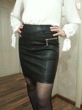 c2a16b6aa6 Otoño Invierno Zipper mujeres faldas de cuero Delgado alta cintura Sexy PU  falda lápiz más tamaño negro mujeres Oficina OL falda M-4XL