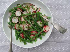 Green bean and radish salad