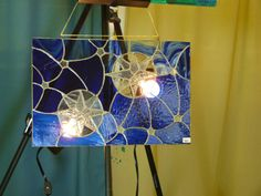 Starry Night  Stained Glass Panel 10 X 16 by VapidusDesigns, $95.00
