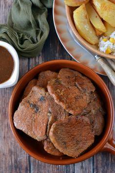 Sörben párolt sertéskaraj recept