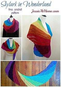 Skylark in Wonderland ~ Free Crochet Pattern by Jessie At Home for Frabjous Fibers *༺✿ƬⱤღ  http://www.pinterest.com/teretegui/✿༻*