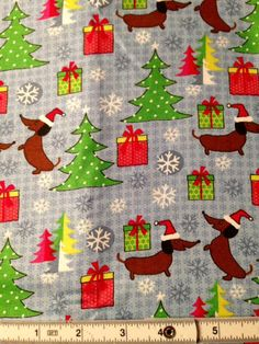 Hey, I found this really awesome Etsy listing at https://www.etsy.com/listing/246643849/sale-dachshund-doxie-holiday-fabric100