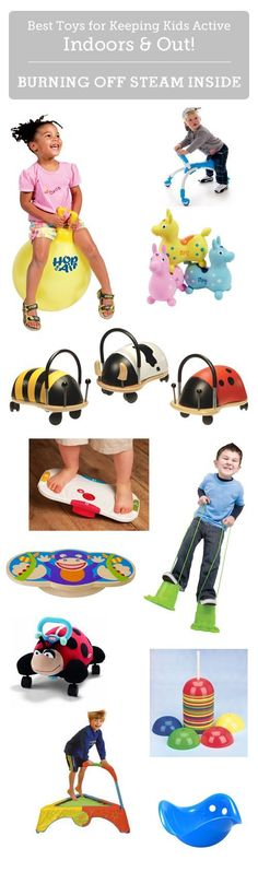 Best toys for burning off steam inside - these are a life-saver on rainy days!