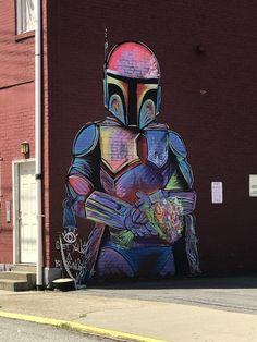 Cool street art I found in Pittsburgh : StarWars
