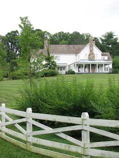 Beautiful white farmhouse