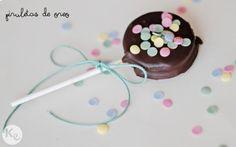 Piruletas de oreo/Oreo lollipops - A Kiss of Colour