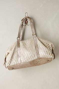 Shimmered rope weekender bag #anthrofave http://rstyle.me/n/sg7e5nyg6