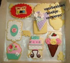 Voorbeelden van koekjes versieren