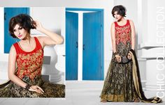 Buy online beautiful Indian gowns wedding designer gowns and evening gowns at best prices. Party Wear Long Gowns, Evening Party Gowns, Net Gowns, Indian Gowns, Work Party, Gowns Of Elegance, Anarkali Dress, Designer Gowns, Designing Women