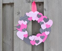 Grab a few basic supplies from your craft stash to make this cute scrapbook paper heart wreath for Valentine's Day! We aren't too big into celebrating Valentine's Day, but I still enjoy decorating a little Diy Valentines Day Wreath, Valentine Crafts For Kids, Mothers Day Crafts, Valentines Day Decorations, Funny Valentine, Kids Crafts, Crafts For Seniors, Heart Crafts, Paper Hearts