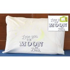 I Love You To the Moon and Back Kids Glow in the Dark Pillowcase