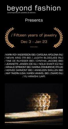 at Beyond fashion gallery - 15 years of jewellery - - X