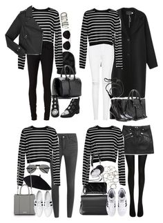 """""""Inspired with a black and white striped sweater"""" by nikka-phillips ❤ liked on Polyvore featuring moda, rag & bone/JEAN, TIBI, Marc by Marc Jacobs, Yves Saint Laurent, Retrò, H&M, Balenciaga, Lanvin e Cheap Monday"""
