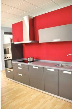 cocinas rojas para cocinar con pasin cocina roja cocinas pinterest