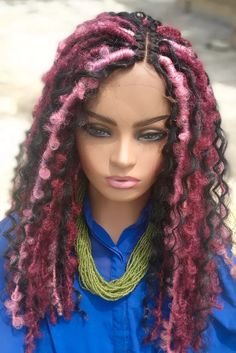 Faux Braids, Braids Wig, Faux Locs Hairstyles, Natural Looking Wigs, Braids With Extensions, Lace Hair, Womens Wigs, Wig Styles, Wigs For Black Women